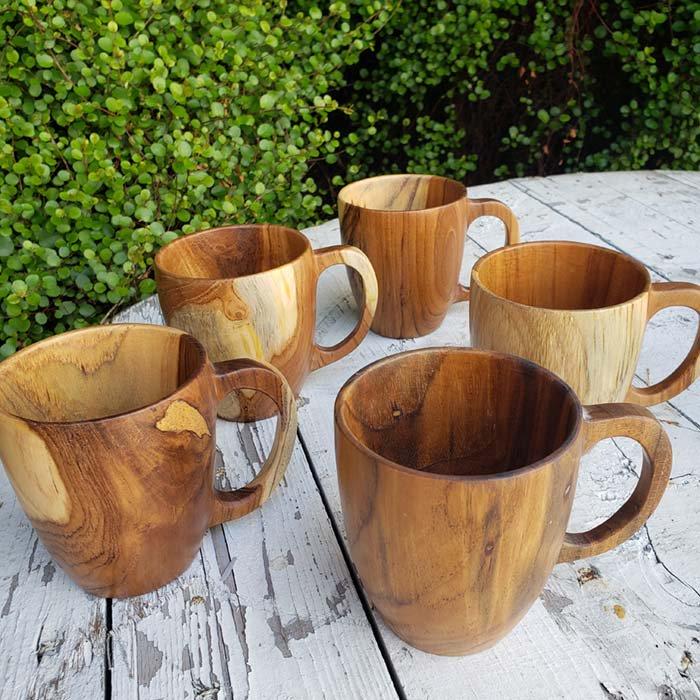 インドネシア・チーク・木製マグカップ メインイメージ