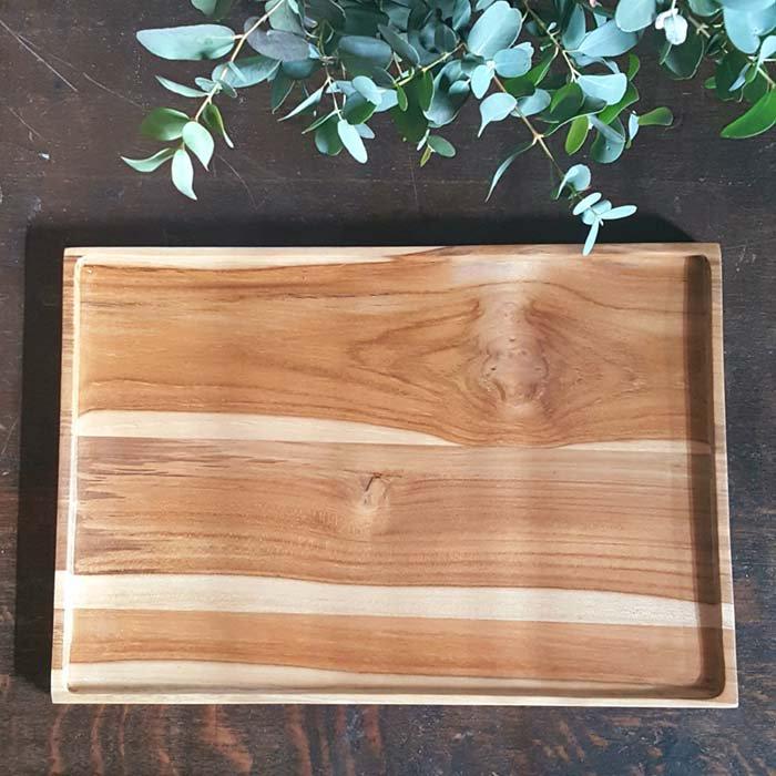 インドネシア・チーク・WOOD・木製トレー メインイメージ