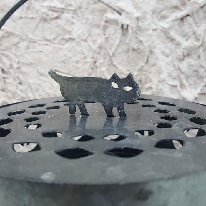 ブリキ・蚊取り線香立て・お香立て・黒猫・猫モチーフ サブイメージ