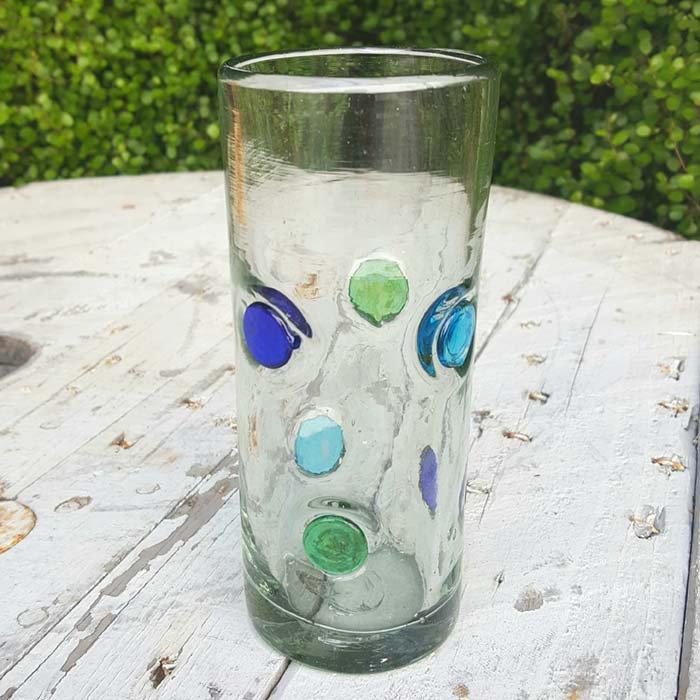 メキシコ・手吹きガラス・水玉グラス メインイメージ