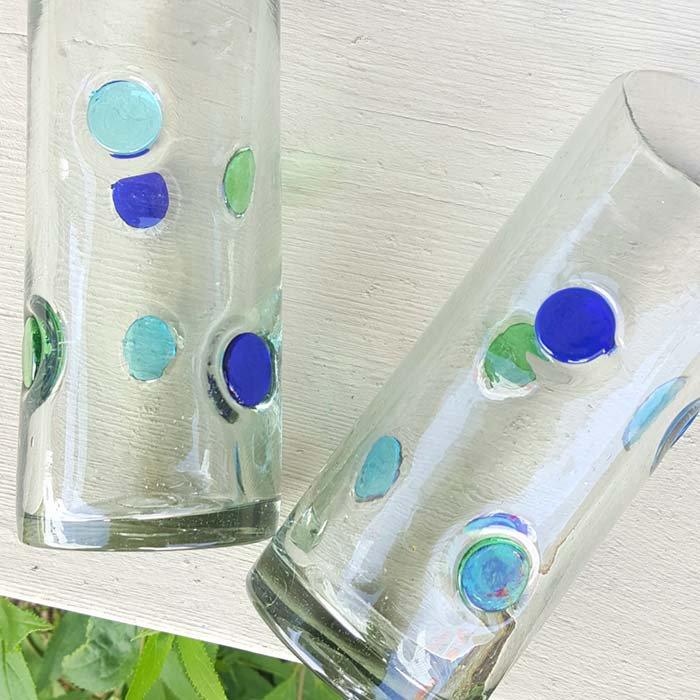 メキシコ・手吹きガラス・水玉グラス サブイメージ