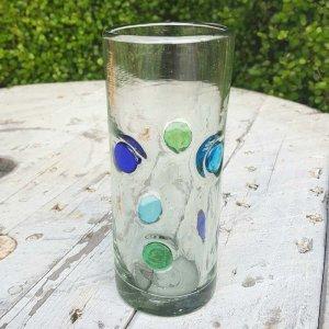メキシコ・手吹きガラス・水玉グラス
