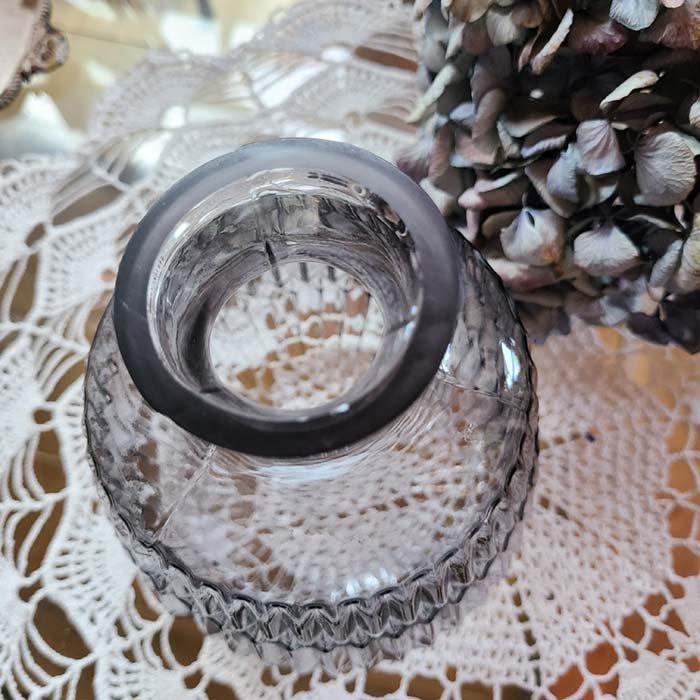 ガラス・ボトルフラワーベース・グレイッシュパープル サブイメージ