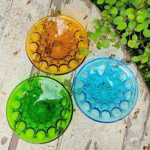 ガラス豆皿3色・ガラス器・ソーダガラス・レトロガラスデザイン