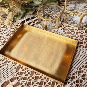 真鍮・ブラストレイ(L)・長方形・マネートレイ・アクセサリートレイ