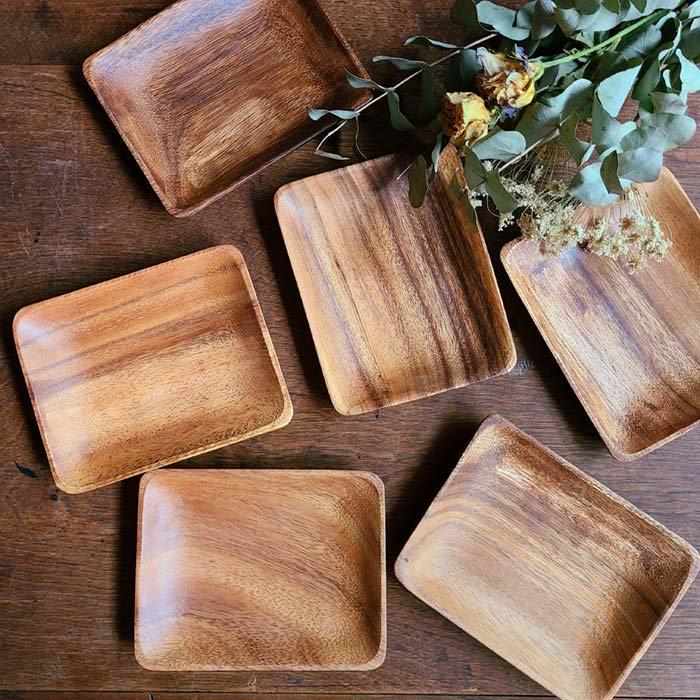 木製・スクエアプレート(M)・ウッドトレイ メインイメージ