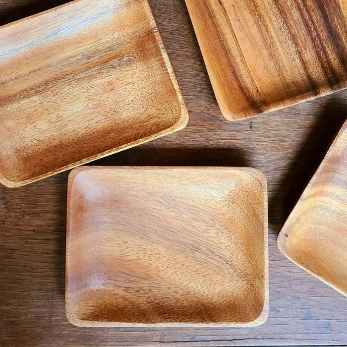 木製・スクエアプレート(M)・ウッドトレイ サブイメージ