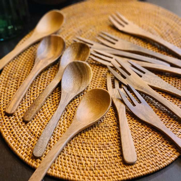 木製スプーン・木製フォーク・ナチュラル・ウッドスプーン・ウッドフォーク メインイメージ