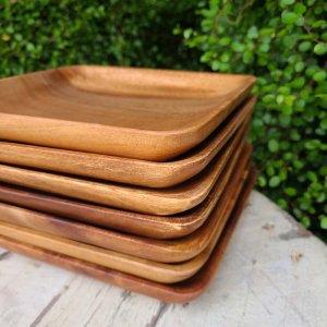 木製・スクエアプレート(四角)・ウッドトレイ