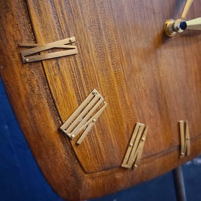 置時計・ウッドクロック・木製時計・スタンドクロック・レトロデザイン サブイメージ