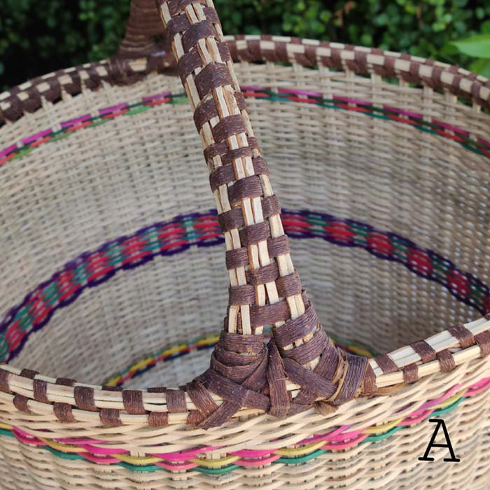 ケニア・1本ハンドルバスケット・丸底かご・カゴバッグ サブイメージ