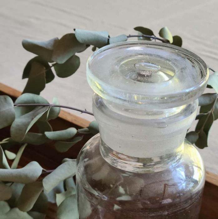 昭和レトロ・レトロガラス・ガラス瓶・クリアガラス・蓋付き瓶(A) サブイメージ