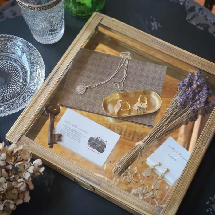 真鍮・ブラス・スクエア・ガラスケース・レトロケース サブイメージ