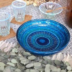 ビトッシ・フラビア(FLAVIA)・リミニブルー・プレート・陶器・イタリア