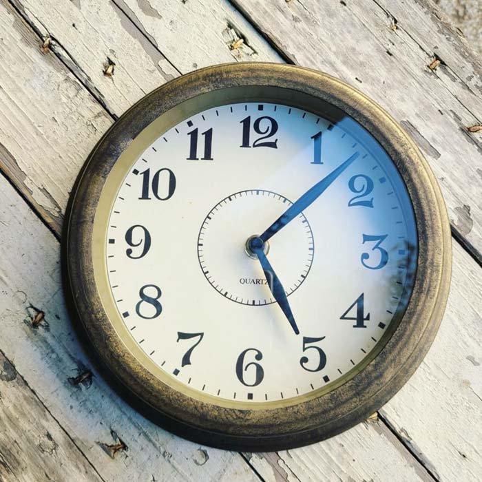 ブラス風・アンティーク調・ウォールクロック・壁掛け時計 サブイメージ