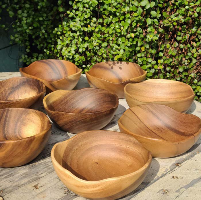 木製・ウッドボウル・ナチュラル・Mサイズ メインイメージ