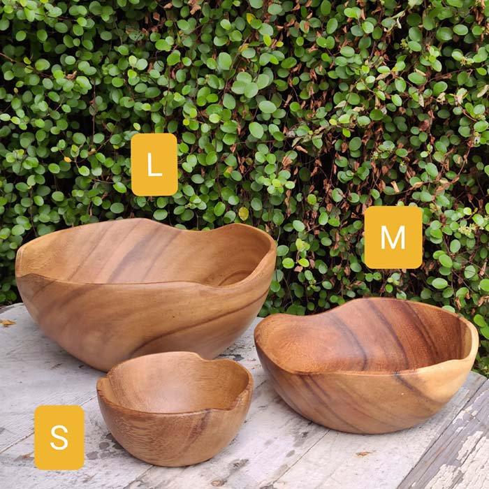 木製・ウッドボウル・ナチュラル・Mサイズ サブイメージ