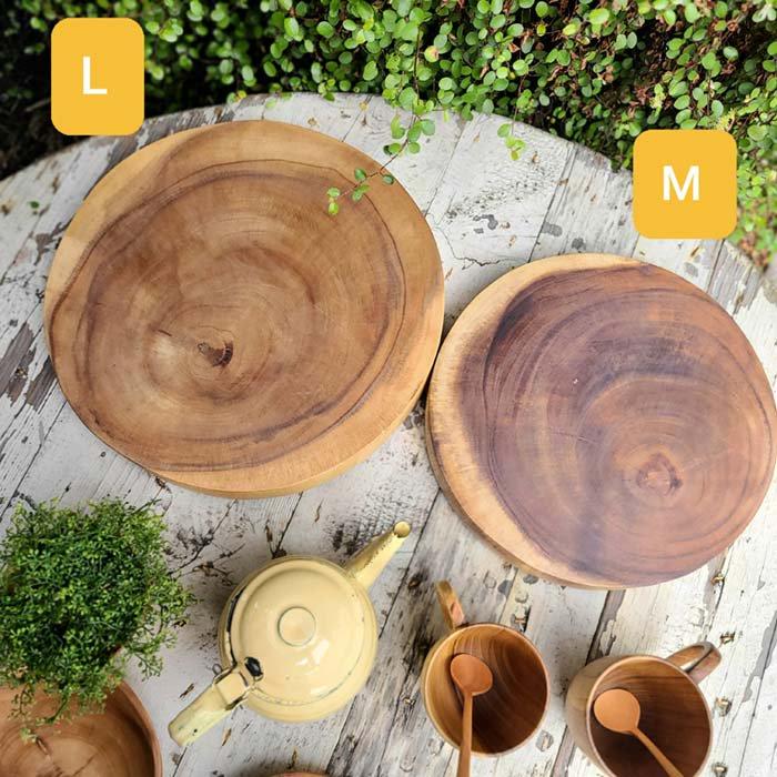 木製・チョッピングボード・カッティングボード・丸プレート(Lサイズ) サブイメージ