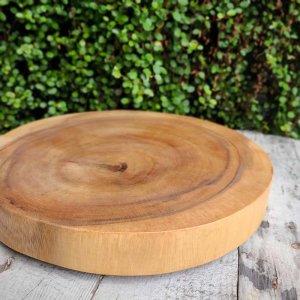 木製・チョッピングボード・カッティングボード・丸プレート(Lサイズ)