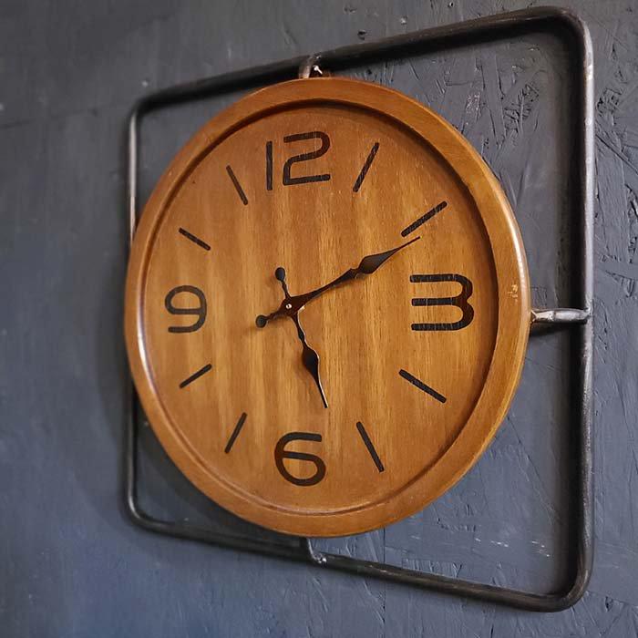 木製・インダストリアル風・ウォールクロック・壁掛け時計 サブイメージ