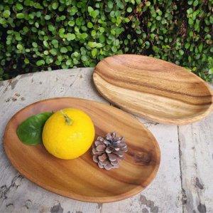 木製・オーバルプレート(S)・ウッドトレイ