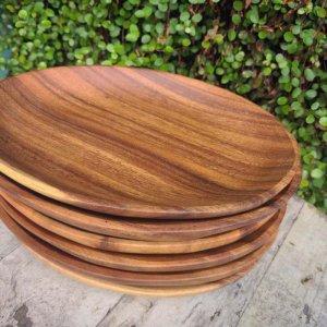 木製・オーバルプレート(M)・ウッドトレイ