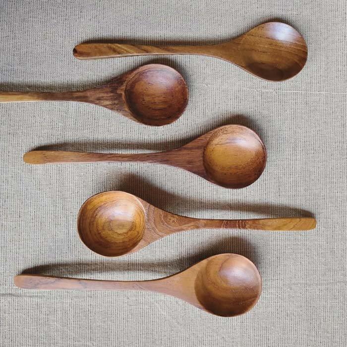 チーク・木製・ディナーフォーク・ディナースプーン・ナチュラル サブイメージ