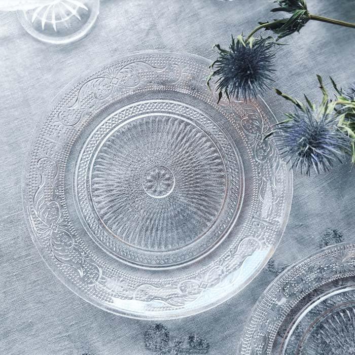 レース模様ガラスプレート・デザートプレート(L) メインイメージ