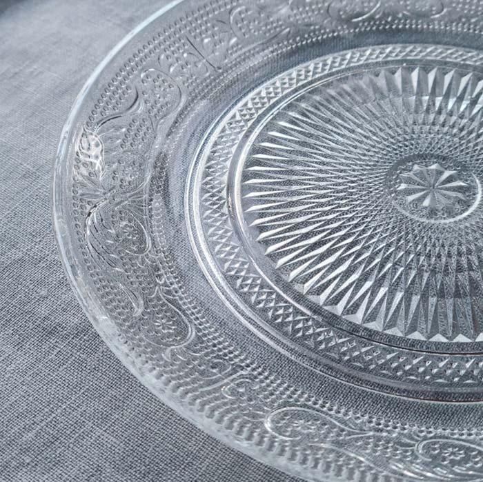 レース模様ガラスプレート・デザートプレート(L) サブイメージ