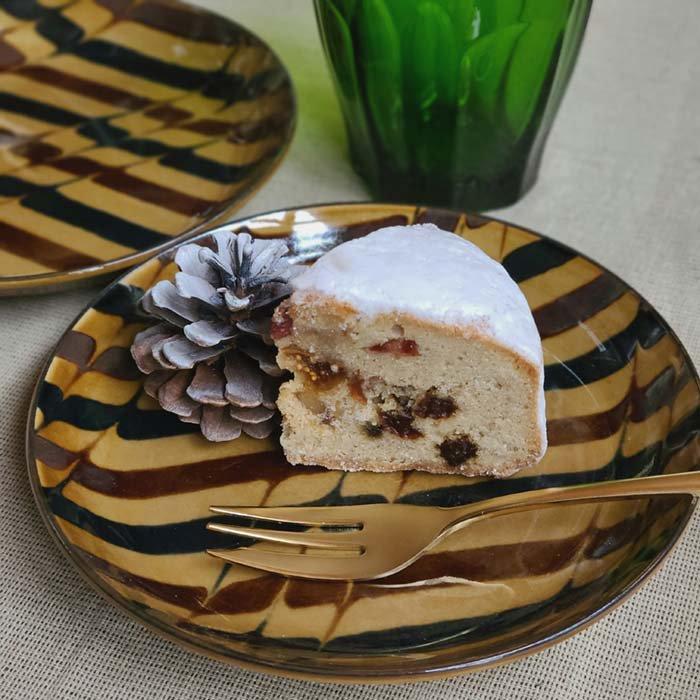 デザートプレート・ケーキ皿・取り皿・パン皿・レトロモダン・飴色 サブイメージ