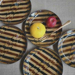 デザートプレート・ケーキ皿・取り皿・パン皿・レトロモダン・飴色