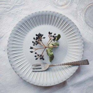 フレンチシャビー・レトログレー・デザートプレート・ケーキ皿(M)