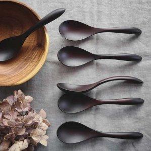 木製(紫檀)・スープスプーン・リゾット・お茶漬け・おかゆ・レンゲ・こだわりスプーン