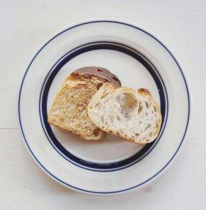 ブルーライン・17.5cmプレート・カフェ・ケーキ皿・パン皿