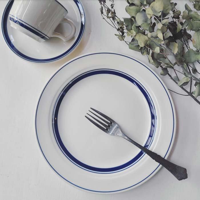 ブルーライン・23cmプレート・ワンプレート・カフェ・珈琲・紅茶・モーニング メインイメージ