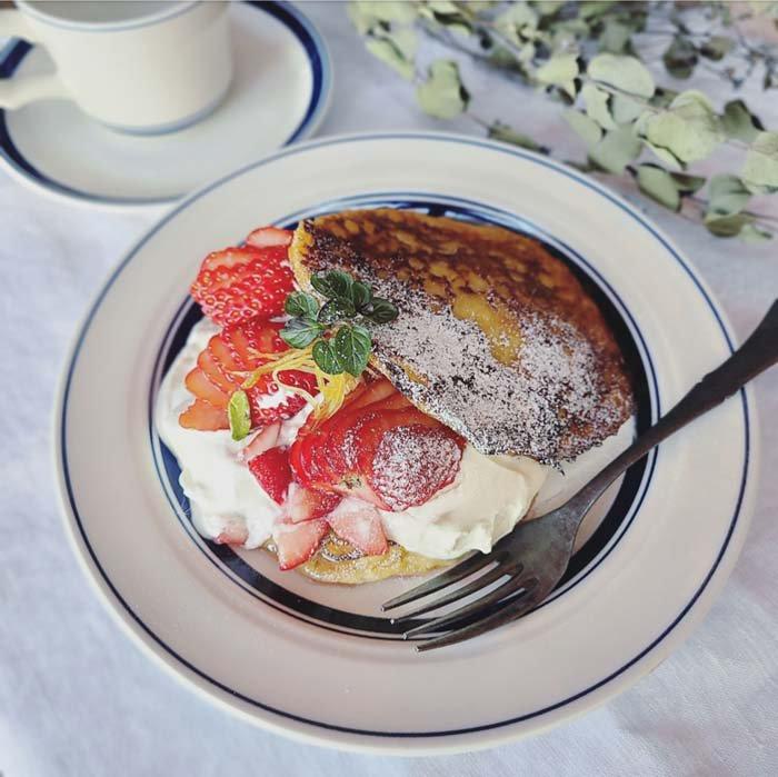 ブルーライン・23cmプレート・ワンプレート・カフェ・珈琲・紅茶・モーニング サブイメージ