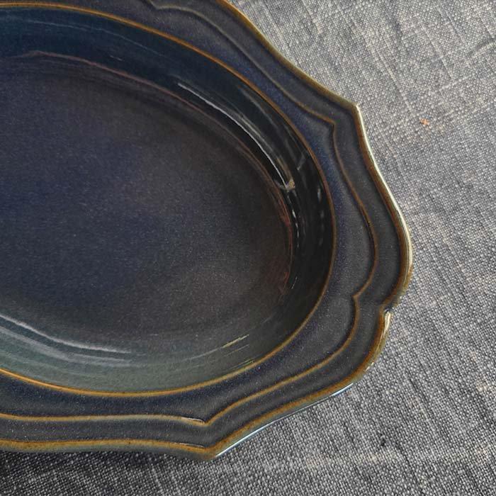 フレアオーバル・プレート(L)・器・レトロカラー2色 サブイメージ