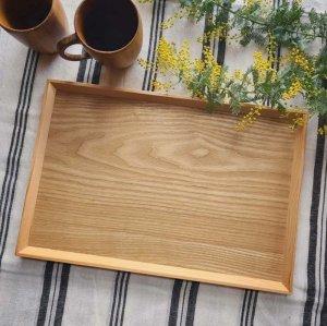 天然木トレイ・長方形トレイ・カフェトレイ・ウォールナット