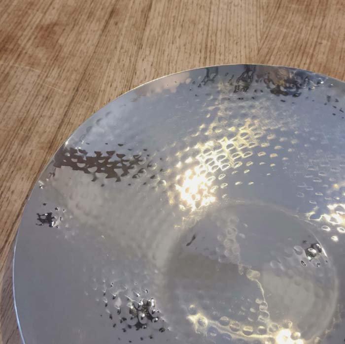 ステンレス槌目ラウンドプレート・丸皿24cm・テーブルウェア サブイメージ