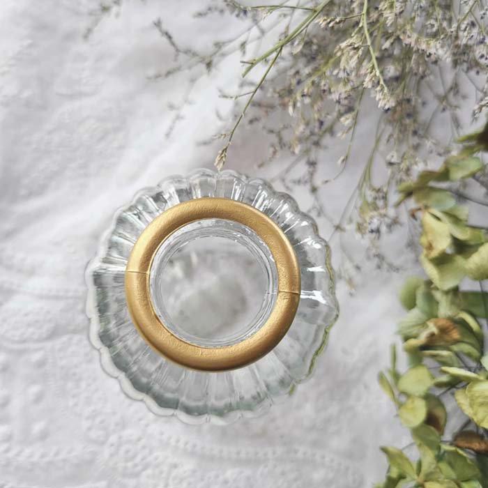 ゴールドリム・ボトル・ガラスフラワーベース サブイメージ