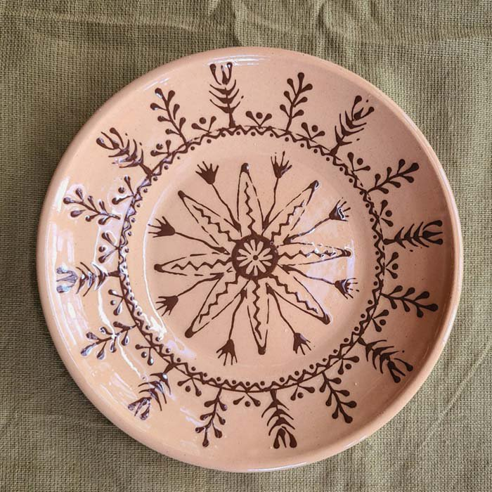 リトアニア・陶器・プレート(ベージュ)・ハンドペイント サブイメージ