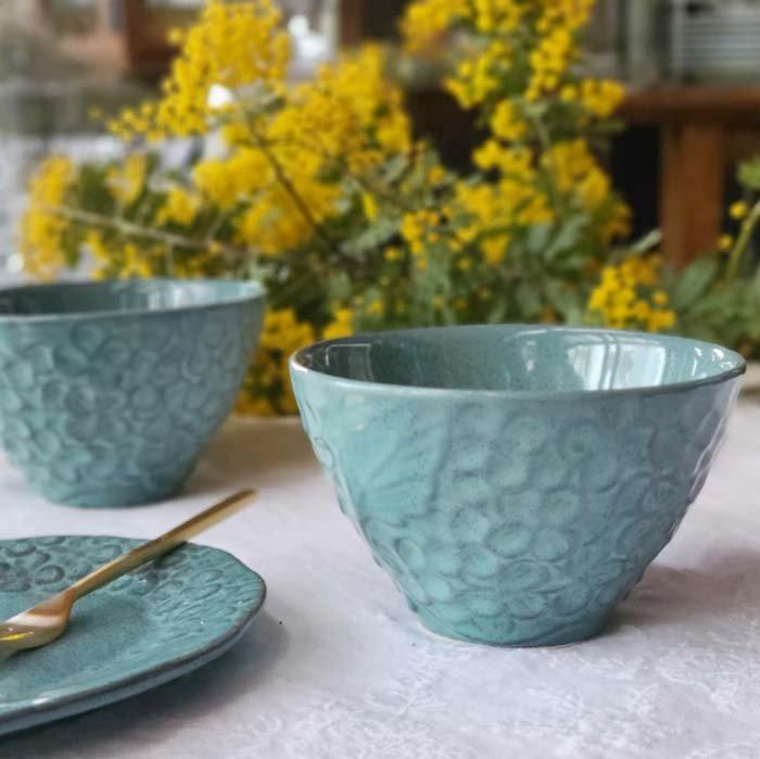 紫陽花・花柄・カップ・ターコイズブルー・美濃焼 メインイメージ