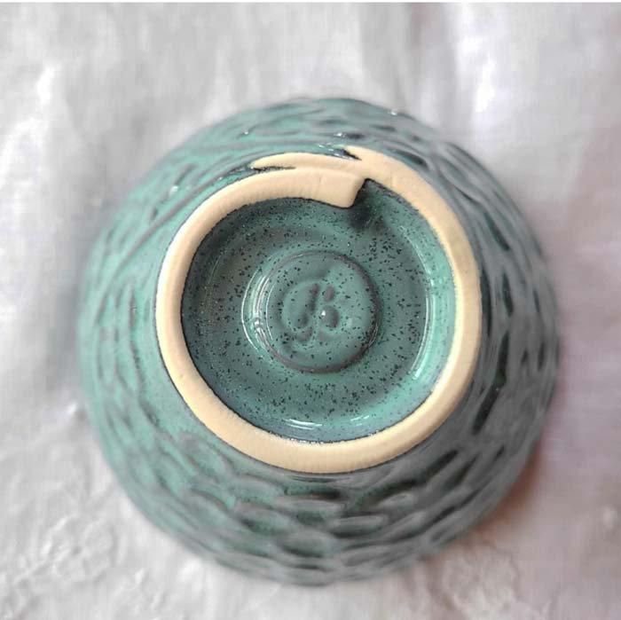 紫陽花・花柄・カップ・ターコイズブルー・美濃焼 サブイメージ