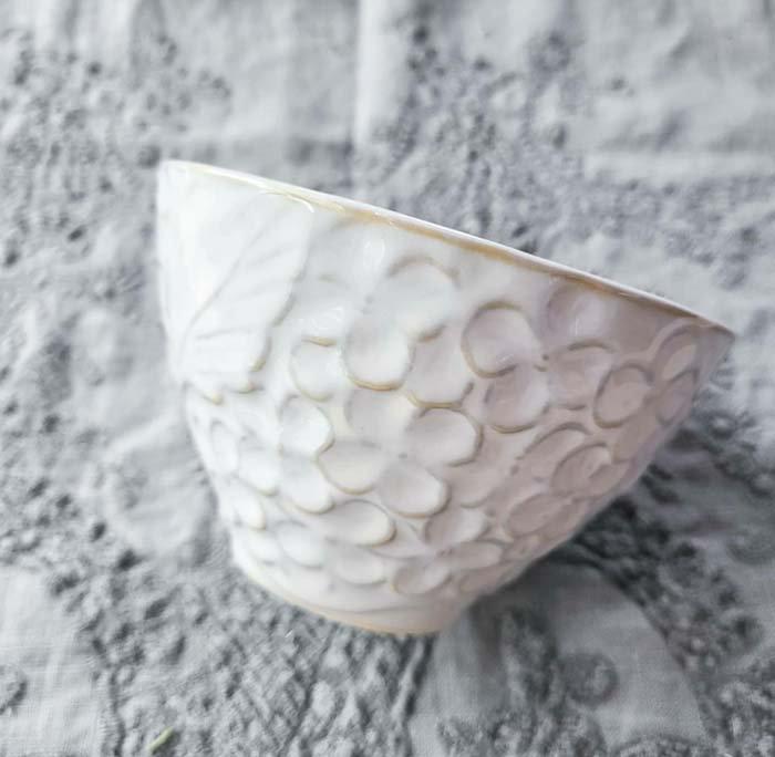紫陽花・花柄・カップ・ホワイト・美濃焼 サブイメージ