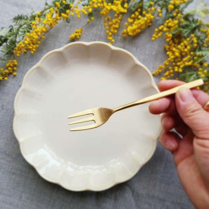 真鍮・ブラス・ゴールド・デザートフォーク サブイメージ