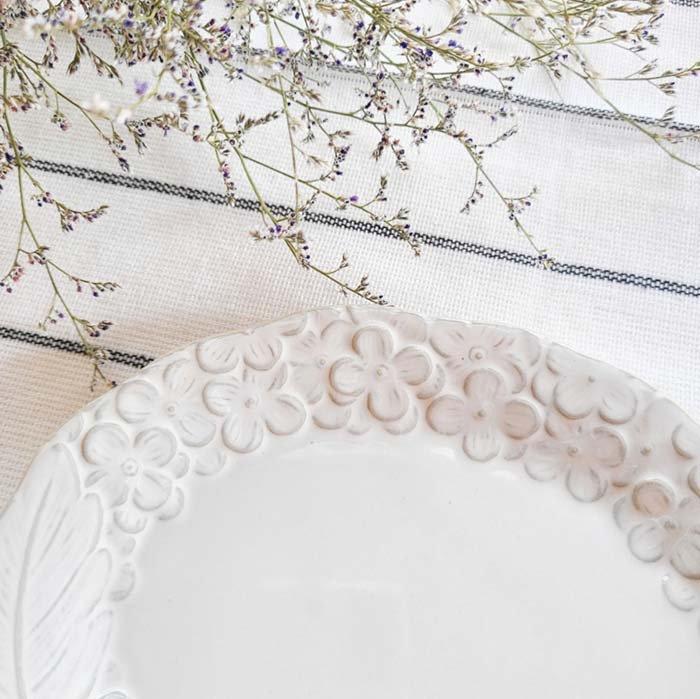 紫陽花・花柄・オーバル・デザートプレート・ホワイト・美濃焼 サブイメージ