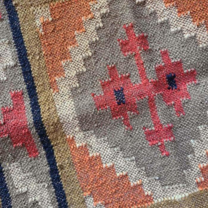 インド・ジュートダリー・麻の敷物・マット・幾何学模様 サブイメージ