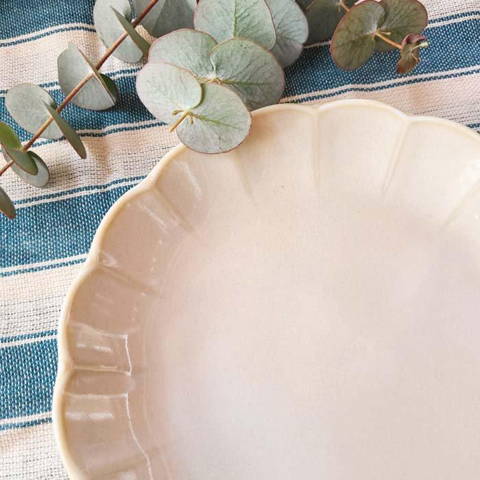 vintageフラワーシリーズ・花皿・アイボリー・デザートプレート・パン皿・取り分け皿 サブイメージ