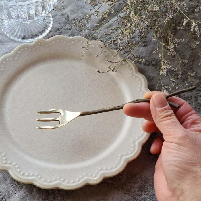 真鍮製・ブラス・スプーン・Mサイズ・フォーク・小枝スプーン&フォーク サブイメージ