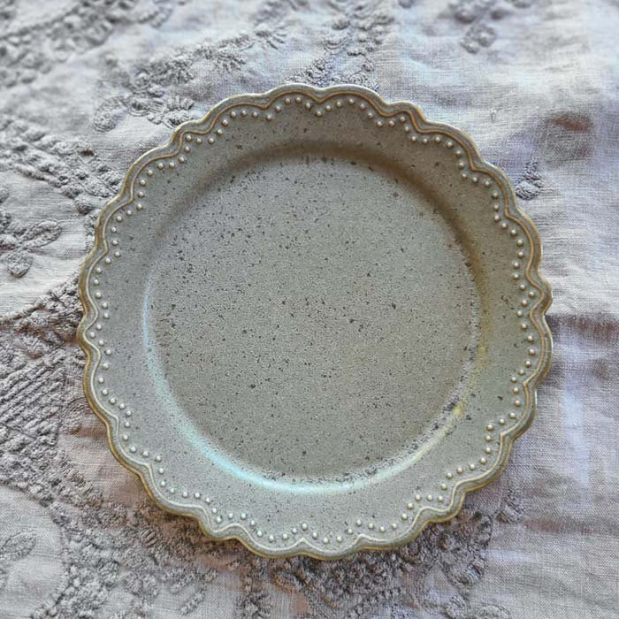 フリルマット・(M)・18.5cmプレート・ケーキプレート・カフェプレート・3色 サブイメージ